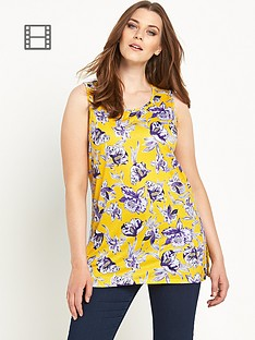 so-fabulous-floral-print-split-side-sleeveless-tunic
