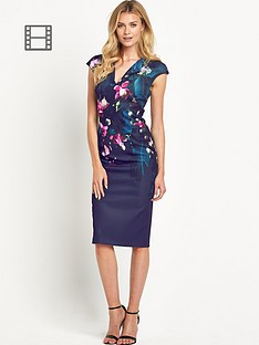 ted-baker-fuchsia-print-dress