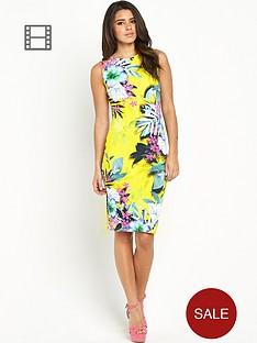 lipsy-yellow-tropical-bodycon-dress