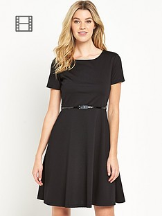 south-ponte-fit-and-flare-dress