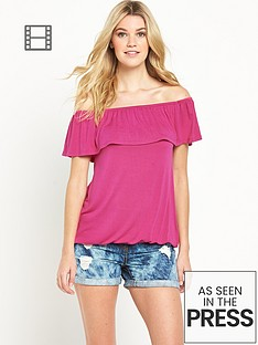 south-bubble-hem-bardot-top