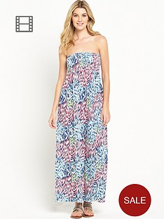 south-petite-animal-bandeau-maxi-dress