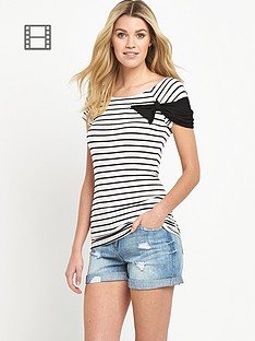 south-striped-bow-detail-top