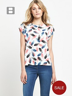 south-feather-print-boxy-top