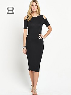south-jersey-cold-shoulder-midi-dress