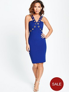 myleene-klass-metal-work-halter-neck-dress