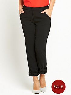 coleen-fixed-pleated-turn-up-trousers
