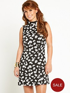 coleen-floral-jacquard-high-neck-dress