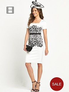 berkertex-printed-lace-panel-pencil-dress