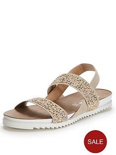 moda-in-pelle-nazarro-taupe-elastic-flat-sandals