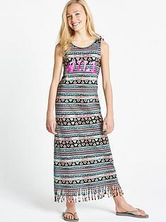 freespirit-girls-fringed-maxi-dress