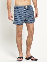 Mens Tropical Hibiscus Photo Print Effect Shorts