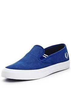 fred-perry-turner-canvas-slip-ons-blue