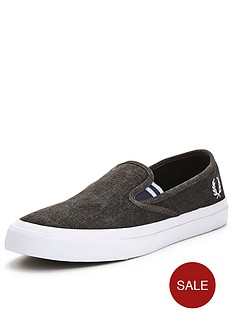fred-perry-turner-canvas-slip-ons-grey