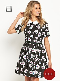 love-label-floral-peterpan-collar-dress