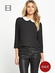 love-label-chiffon-collar-blouse