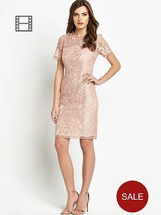 definitions-bow-back-short-sleeve-lace-dress