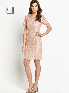 definitions-petite-bow-back-short-sleeve-lace-dress