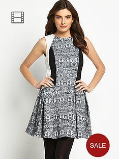 definitions-contrast-jacquard-dress