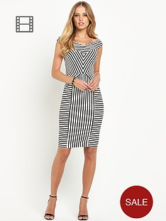 definitions-stripe-bardot-dress