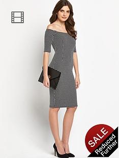 definitions-jacquard-gingham-bardot-dress