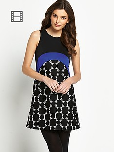 definitions-geo-bonded-lace-dress
