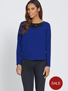 rochelle-humes-embellished-boxy-top