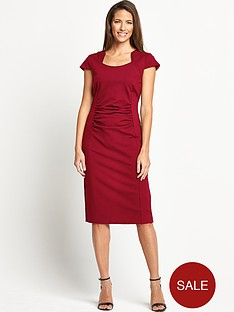 savoir-rouched-seamed-dress