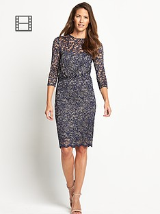 savoir-petite-lace-rouched-dress