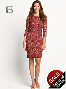 savoir-lace-rouched-dress