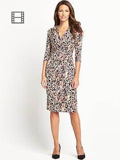 savoir-side-knot-three-quarter-sleeve-dress