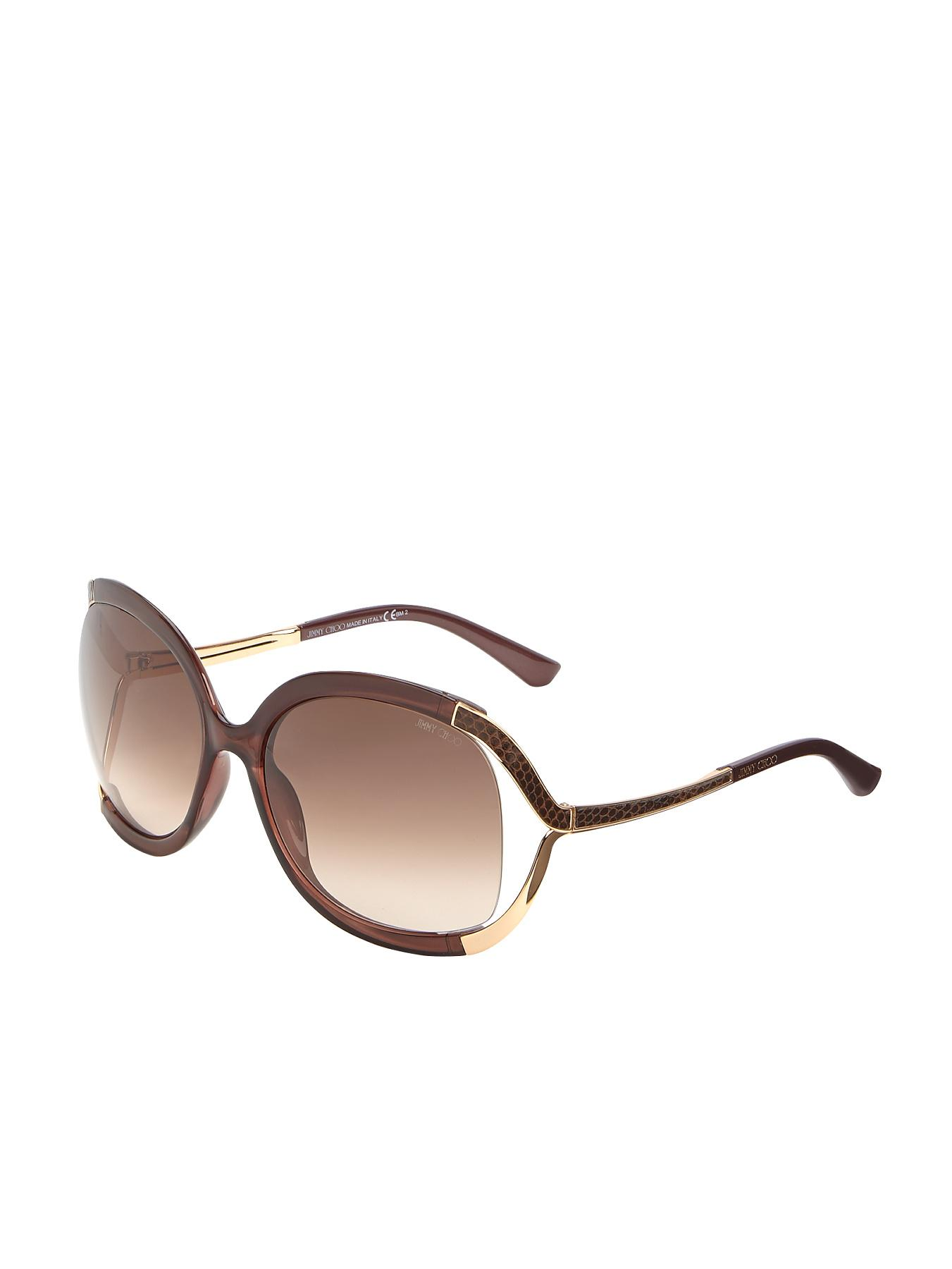 Jimmy Choo Oversized Sunglasses - Brown, Brown