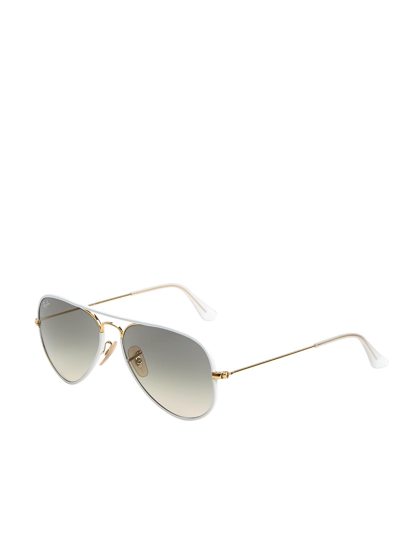 Ray-Ban Aviator Sunglasses - White, White