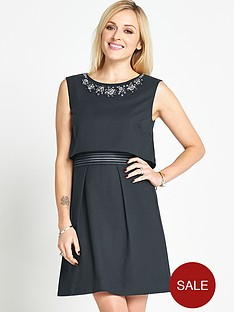 fearne-cotton-double-layer-dress-with-beaded-neck