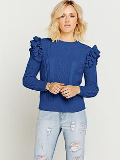 fearne-cotton-high-neck-frill-jumper