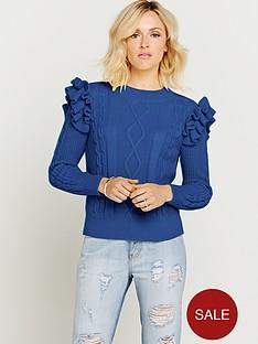 fearne-cotton-high-neck-frill-jumper