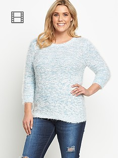 so-fabulous-fluffy-pom-pom-three-quarter-sleeve-jumper