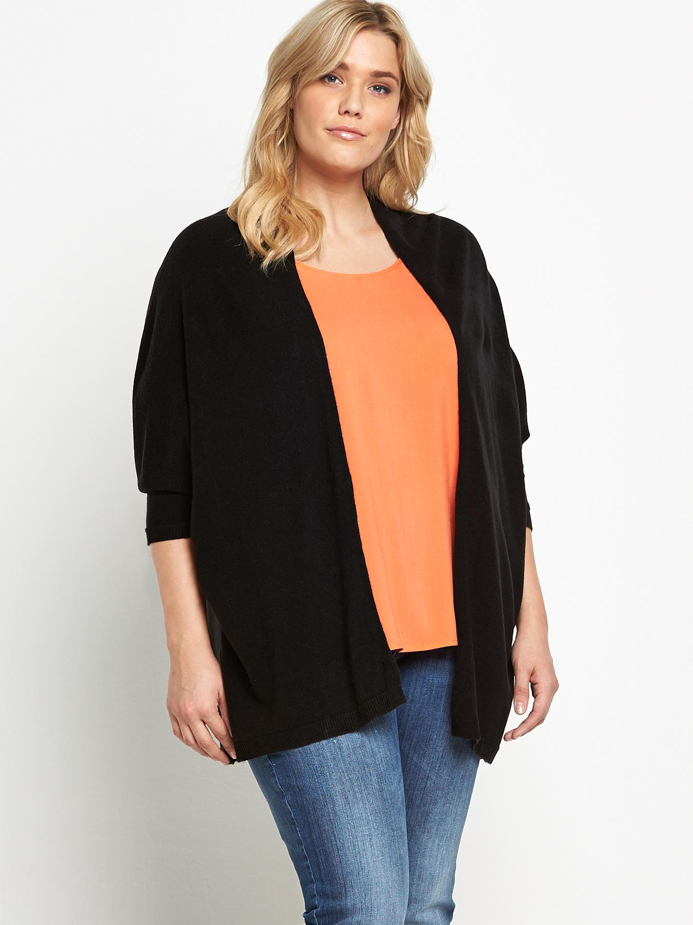 So Fabulous Drape Batwing Cardigan - Black, Black