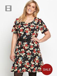 so-fabulous-print-crochet-waist-tea-dress