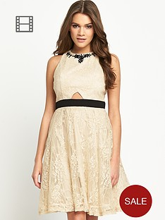 little-mistress-embellished-neck-dress-with-waist-band