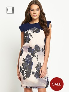 little-mistress-rose-print-shift-dress