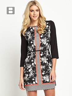 oasis-notch-neck-print-dress