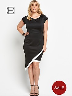 ax-paris-curve-asymmetric-hem-scuba-dress