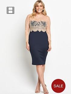 ax-paris-curve-2-in-1-lace-midi-dress