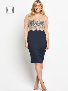 ax-paris-curve-2-in-1-lace-midi-dress