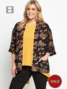ax-paris-curve-floral-crepe-jacket