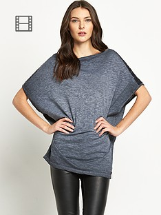 replay-studded-sleeve-top