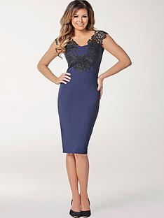 jessica-wright-pearly-lace-detail-bodycon-dress