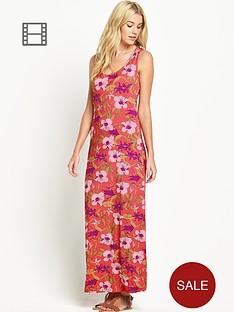 south-print-racer-back-maxi-dress