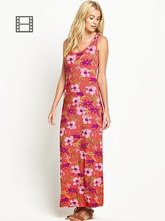 south-print-racer-back-maxi-dress